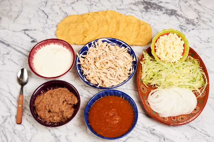 Chicken Tostada Ingredients