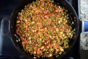 Chorizo, Potato and Green Pepper