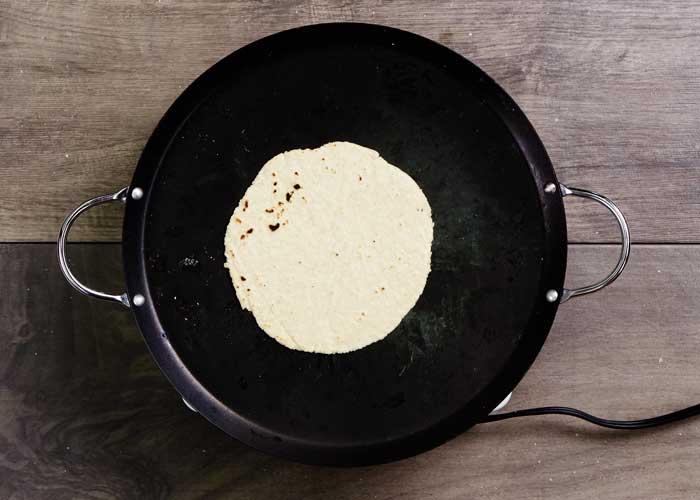Corn Tortilla on Comal 2