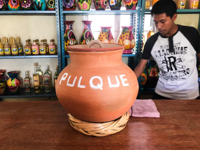 A pulque shop in Santiago Matitlan Oaxaca