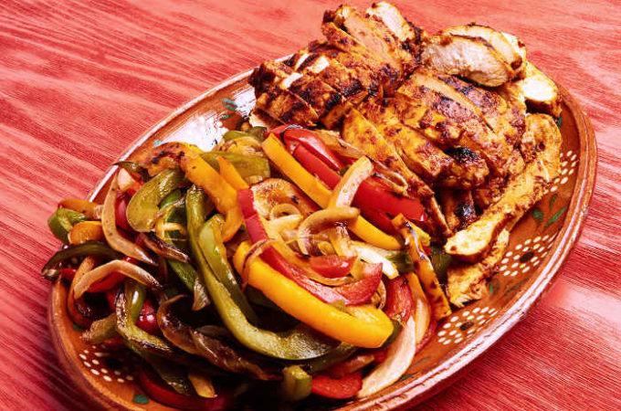 Chicken Fajitas in Adobo