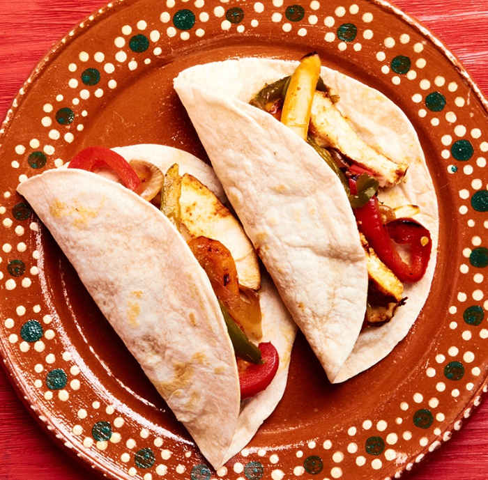 Chicken Fajitas Tacos Flour Tortillas