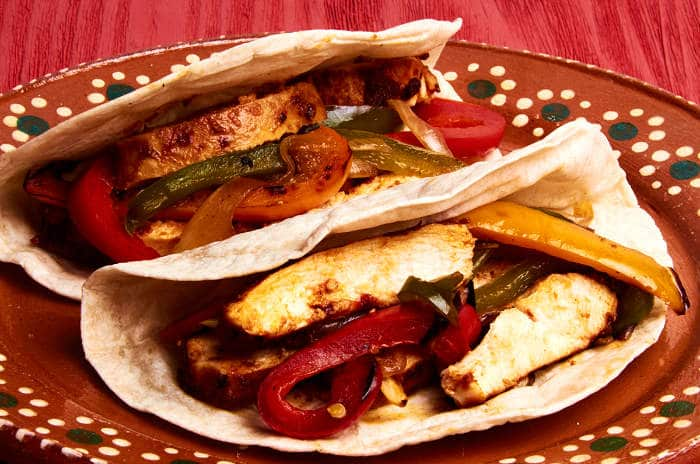 Chicken Fajitas Tacos
