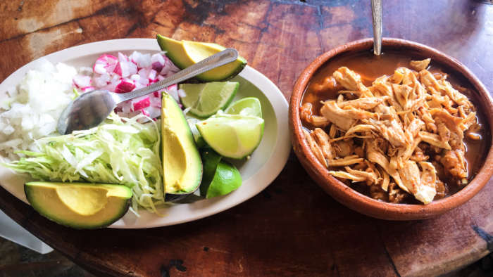 Pozole with Fixings in Mexico City