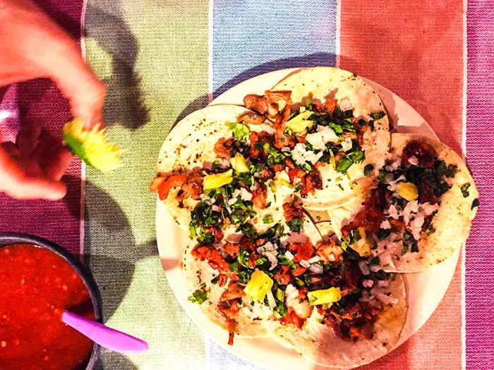 Tacos in a comedor in Oaxaca