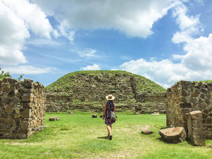 Walking around the grounds at Monte Alban Oaxaca