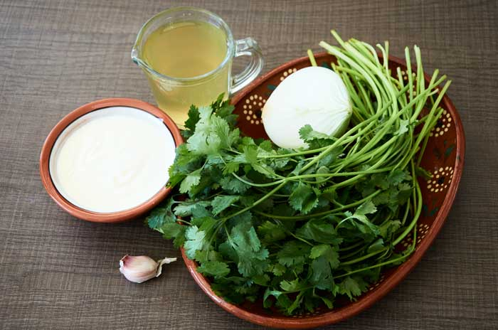 ingredients-cream-of-cilantro-soup