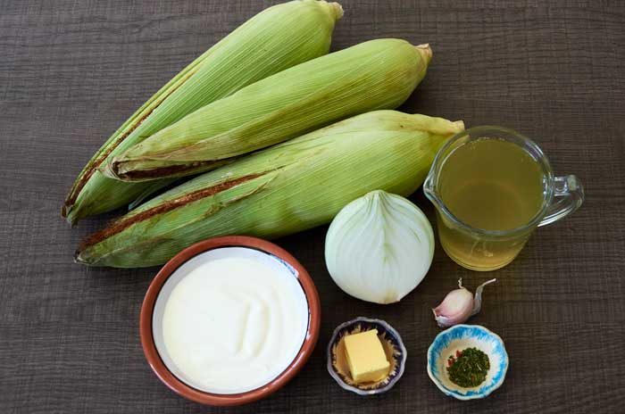 Ingredients for Mexican Cream of Corn Soup