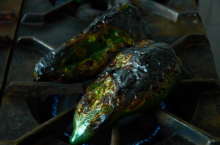 Roasting Poblano Chiles 2