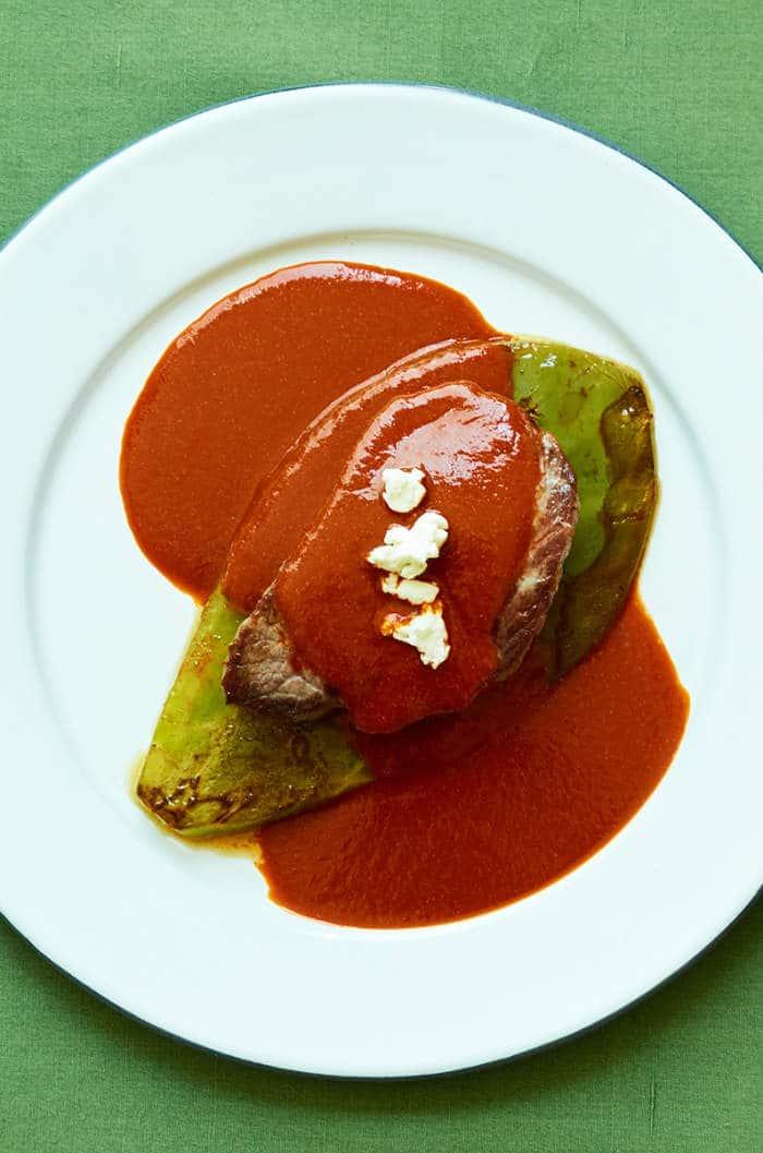 Beef Tenderloin Nopal Three Chile Suace