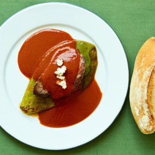 Beef Tenderloin with a Three Chile Sauce
