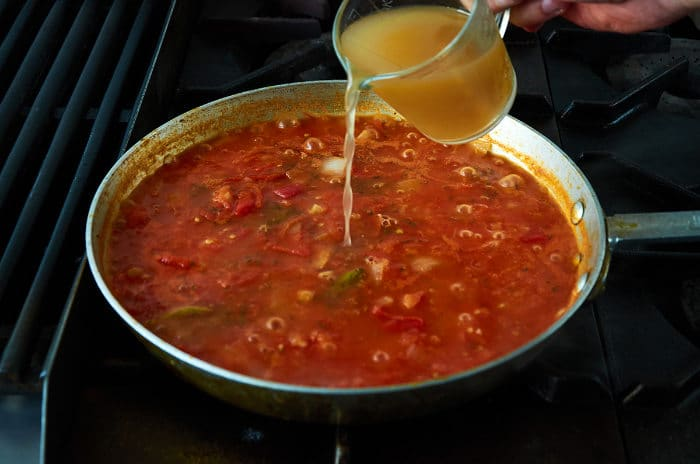 Chicken Broth Added to Vercruz Sauce