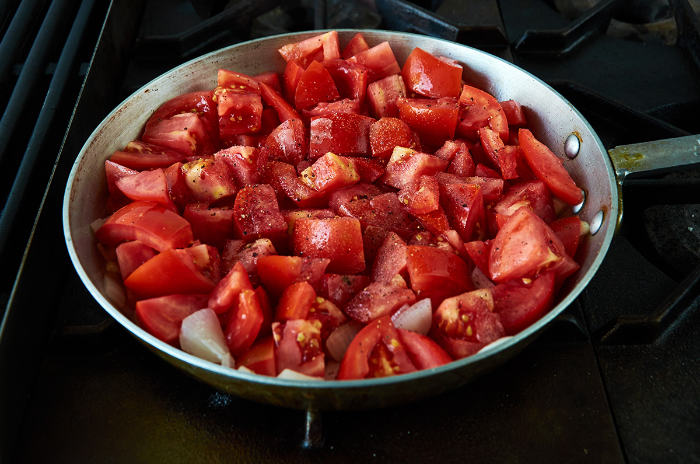 Cooking Tomatoes for Veracruz Sauce