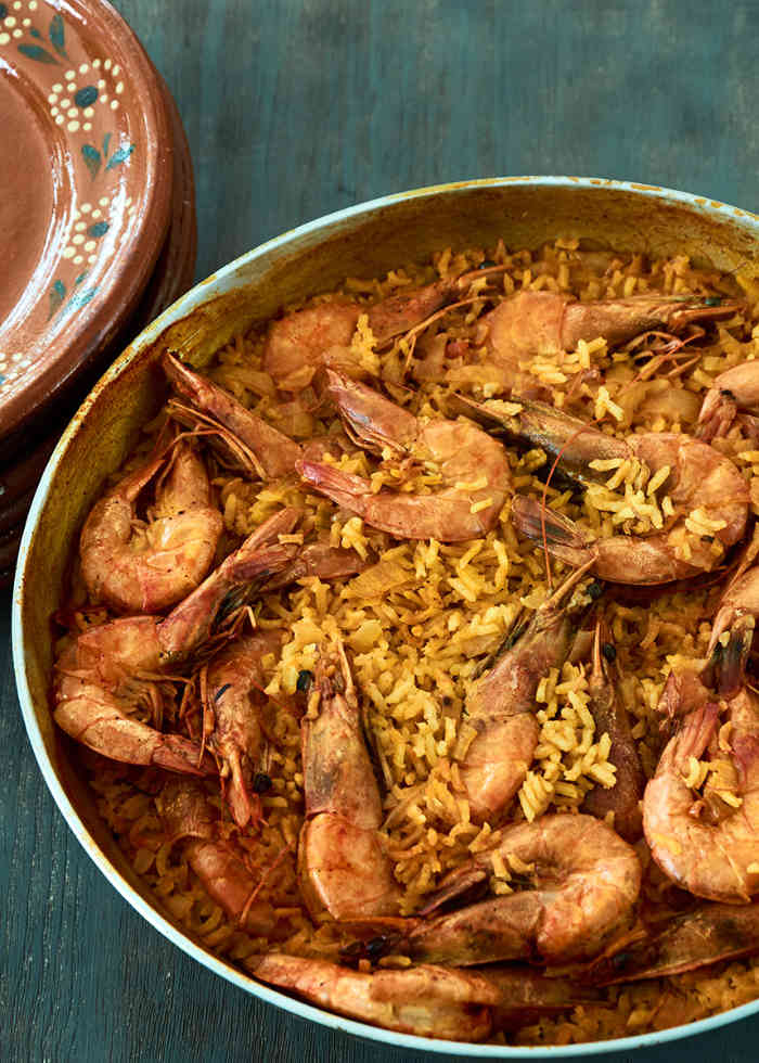 Mexican Curried Rice and Shrimp