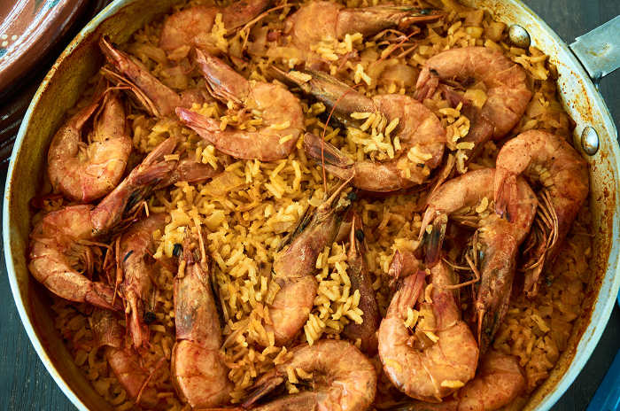 Easy Mexican Curry Rice an Shrimp
