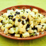 Stewed Chayote with White Wine, Raisins, Pumpkin Seeds