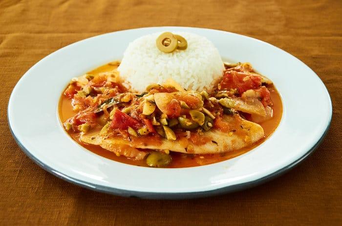 White Fish Veracruz Style