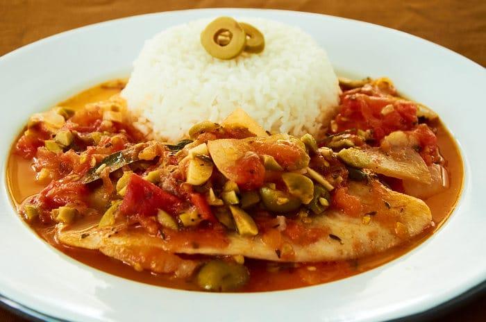 Veracruz style white fish for Fish veracruz recipe
