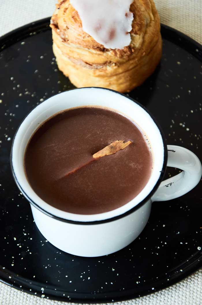 Authentic Mexican Hot Chocolate with Cinnamon