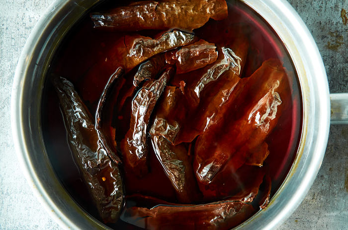 Reconstituting Pasilla Chiles