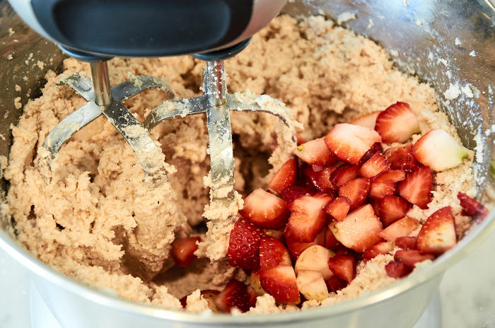 Adding Strawberries to Masa
