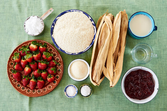 Ingredients Vegan Strawberry Tamales