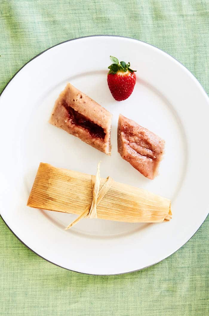 Strawberry Vegan Tamales