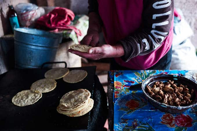 Cooking Gorditas on the Comal