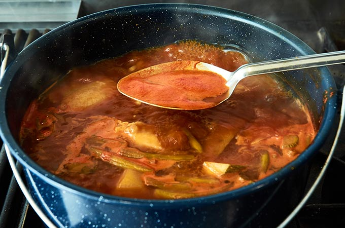 Removing Foam from Clemole Soup