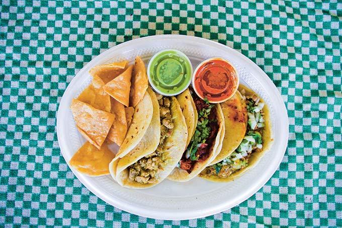 Tacos of Texas Guisado Verde Tacos