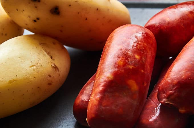 White Potatoes and Chorizo
