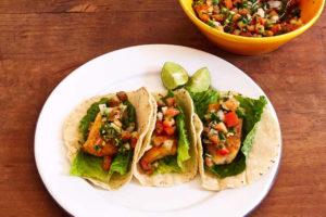 Fish Tacos with Pico de Gallo Salsa