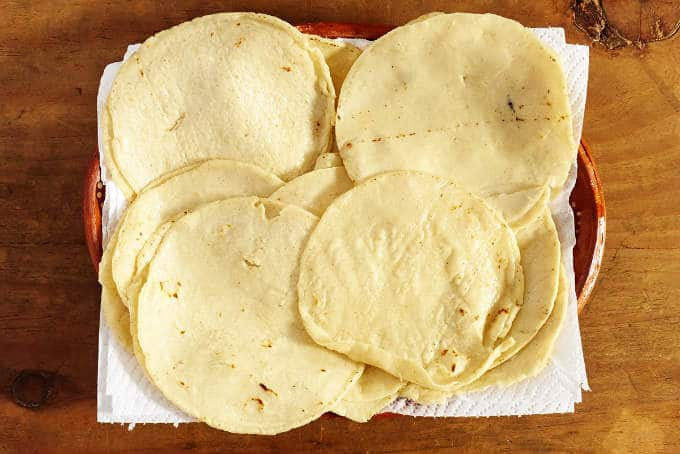 Fried Corn Tortillas for Enfrijoladas