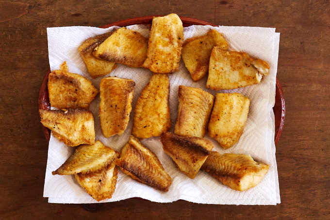Fried Fish Fillets for Fish Tacos