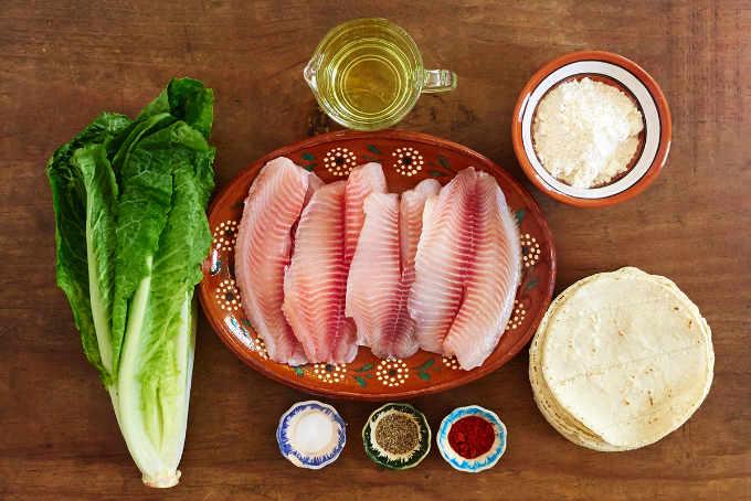 Ingredients Fish Tacos