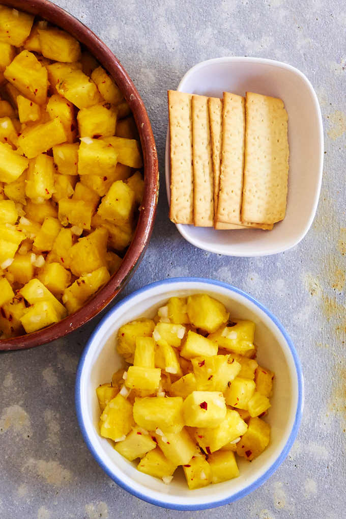 Pineapple Salad with Crackers