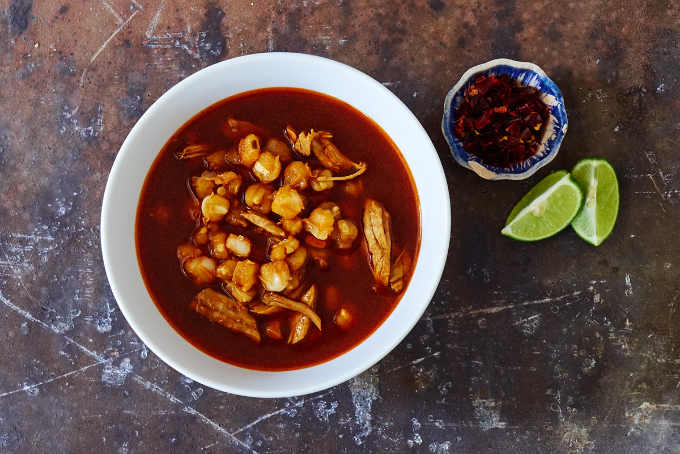 Red Pork Pozole No Garnish