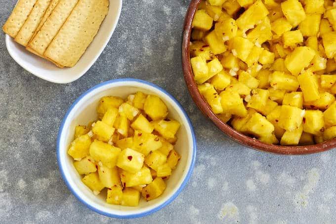 Spicy Pineapple Salad - Ensalada Arabe