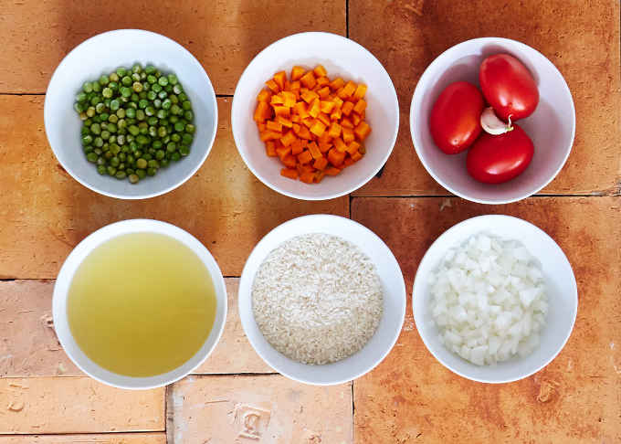 Ingredients to Prepare Mexican Rice
