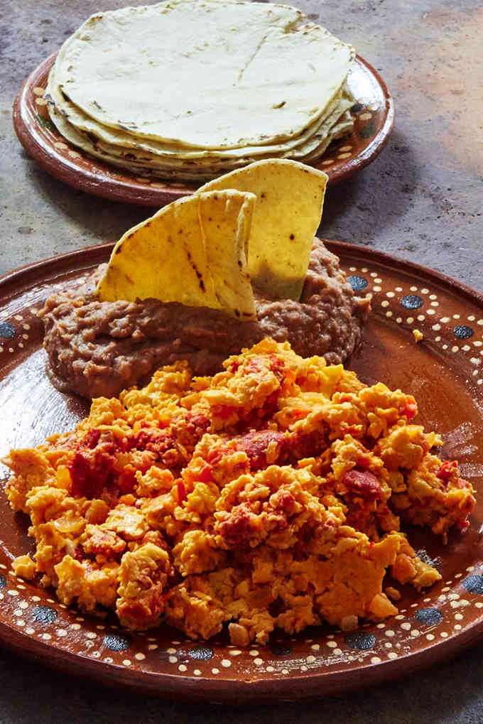 Chorizo Eggs Refried Beans