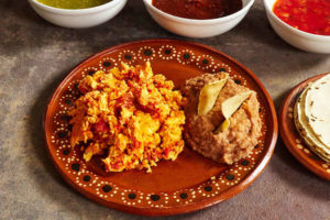 Chorizo Scrambled Eggs Refried Beans