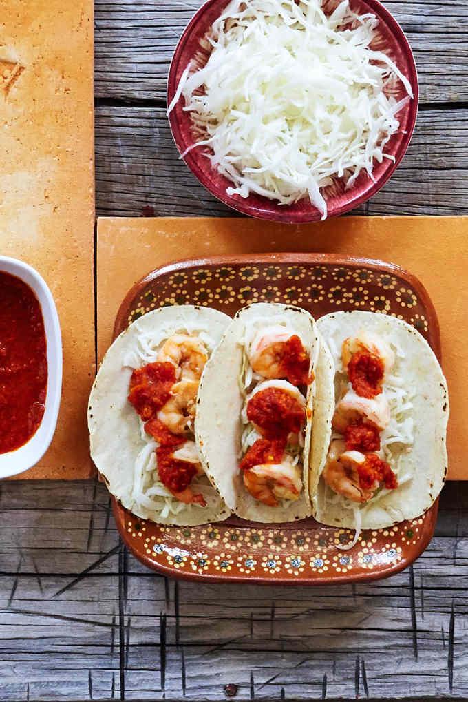 Garlic Shrimp Taco Plate