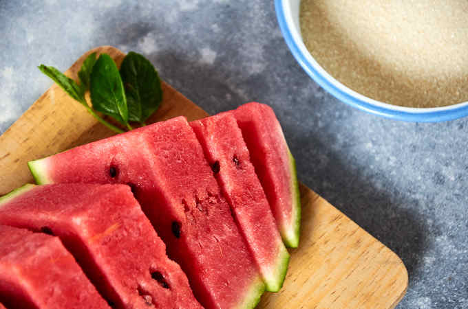 Ingredients to Make Watermelon Water