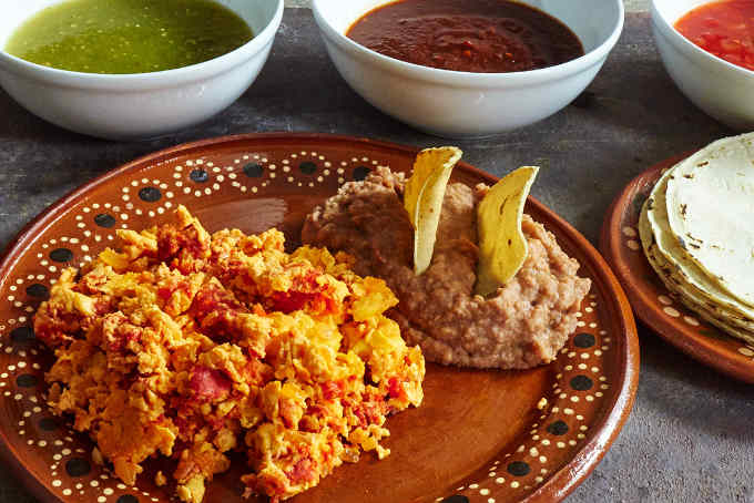 Scrambled Eggs and Mexican Chorizo