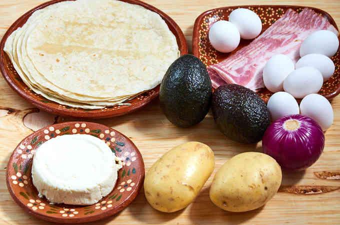 Breakfast Taco Ingredients