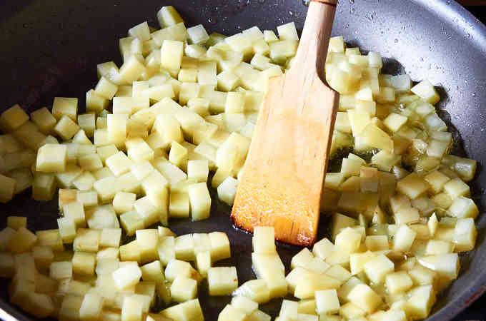 Frying Diced Potato