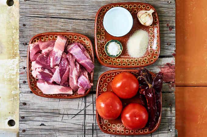 Ingredients Pork Ribs in Guajillo Salsa Roja