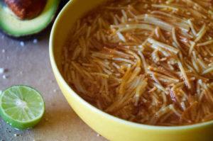 Traditional Mexican Sopa de Fideo