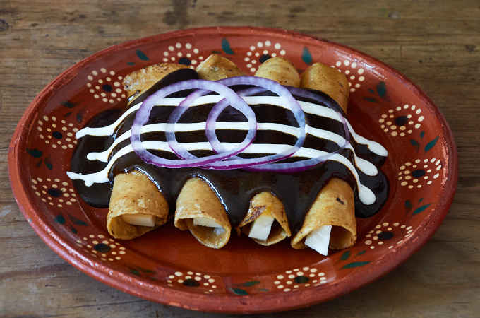 Cheese Enchiladas with Mole