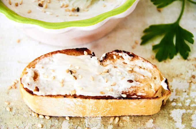 Cream Cheese Spread on Toast